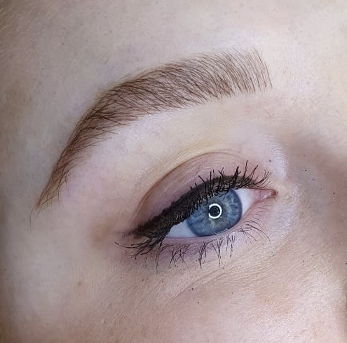 Another perfect example of an eyebrow done at Brau in Dubai.