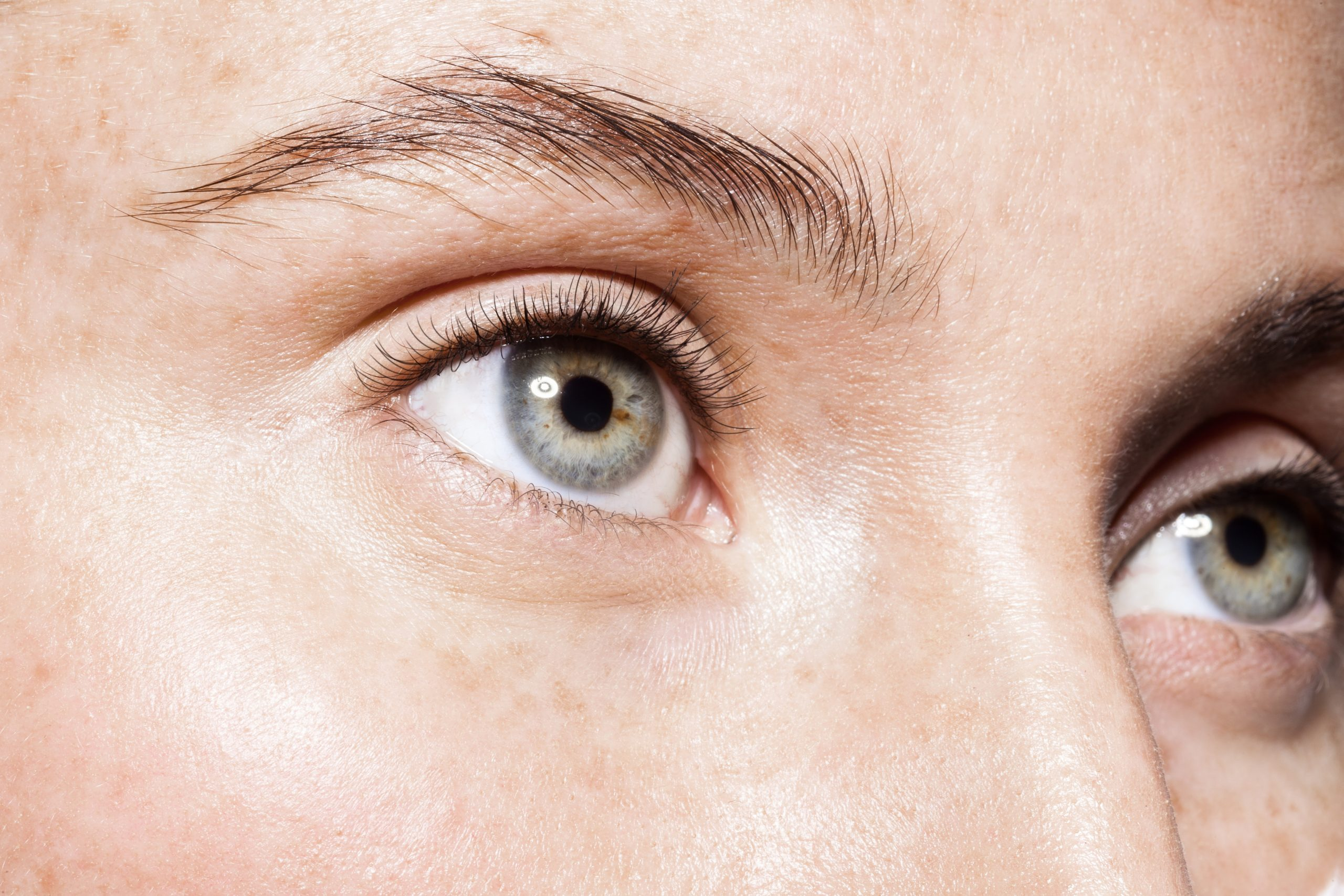 Image of a woman's brow who went to Brau Microblading in Dubai.